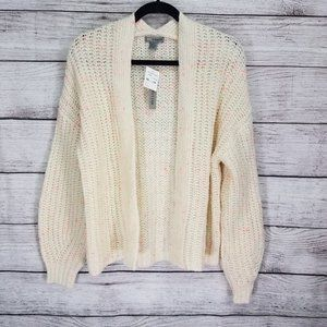 NWT Love by Design S Open front Cardigan Sweater